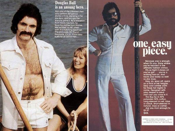 hommes et poils - années 70